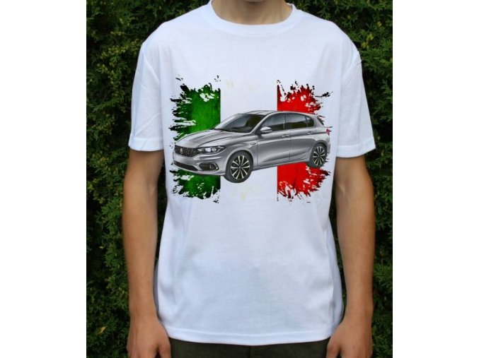 Dětské a pánské tričko s autem Fiat Tipo 2017