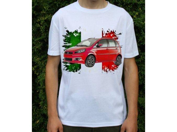 Dětské a pánské tričko s autem Fiat Idea 2011