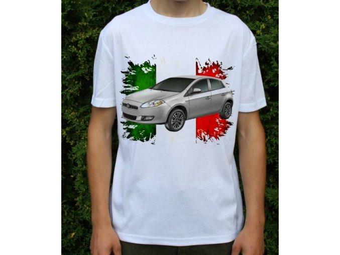 Dětské a pánské tričko s autem Fiat Bravo 2011