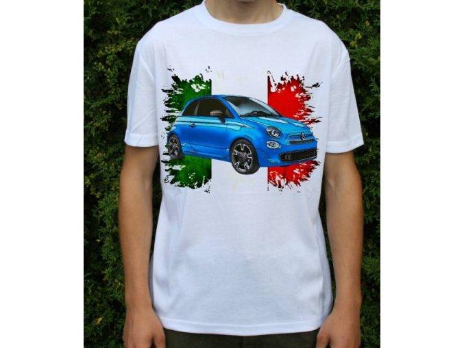 Dětské a pánské tričko s autem Fiat 500S 2017