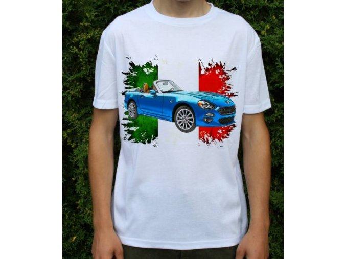 Dětské a pánské tričko s autem Fiat 124 Spider