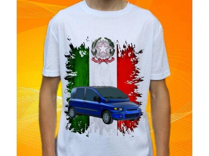 Dětské a pánské tričko s autem Fiat Multipla 2002h
