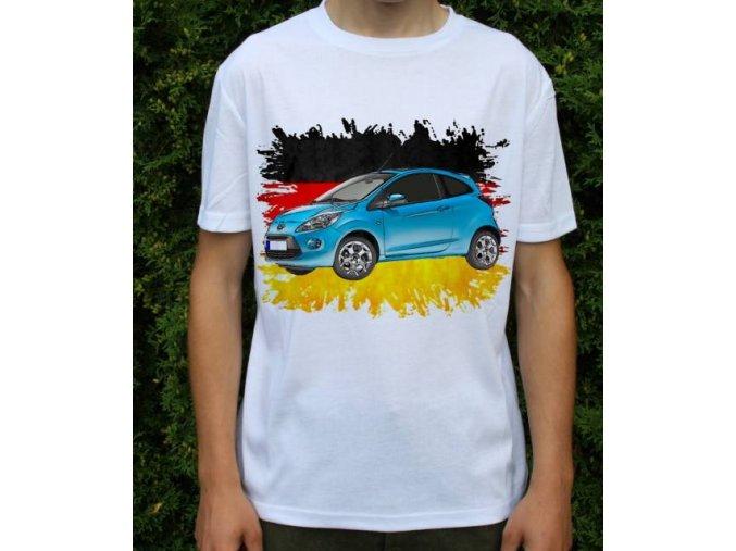 Dětské a pánské tričko s autem Ford KA 2009