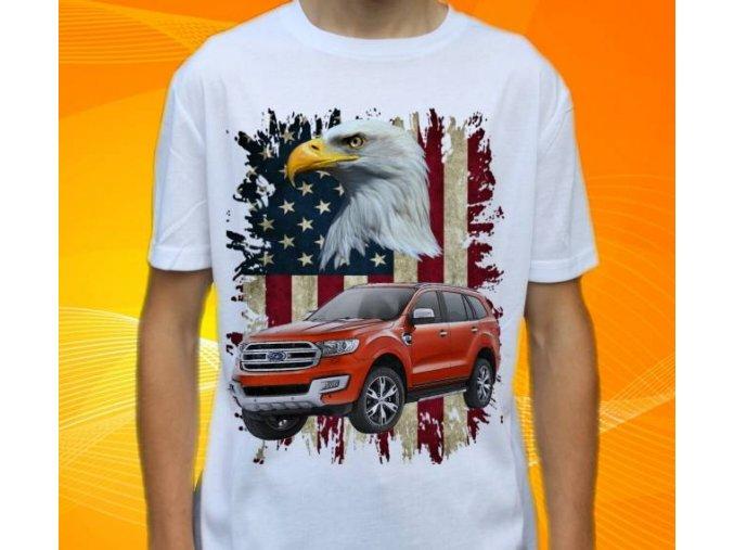 Dětské a pánské tričko s autem Ford Edge