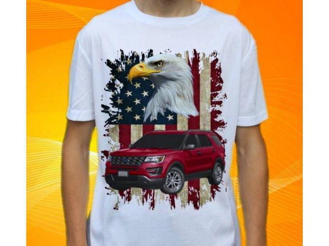 Dětské a pánské tričko s autem Ford Explorer