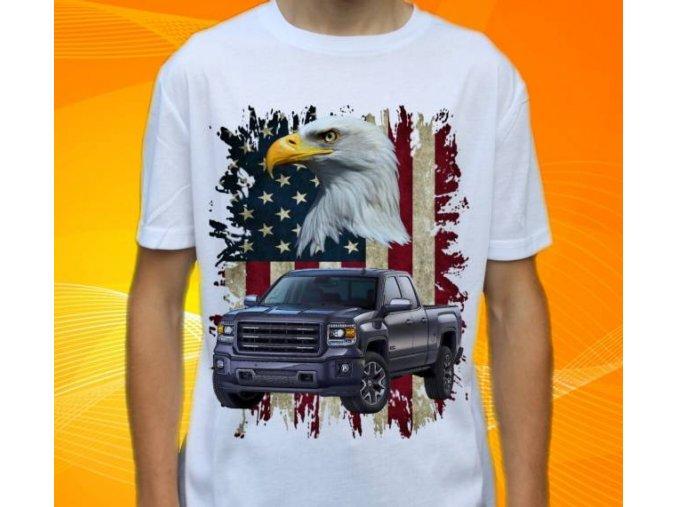 tričko s autem GMC Sierra