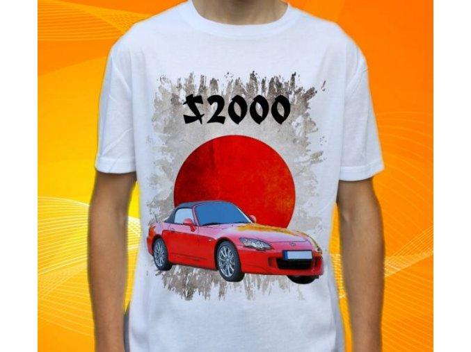 Dětské a pánské tričko s autem Honda S200