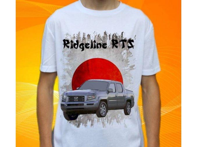 Dětské a pánské tričko s autem Honda Ridgeline RTS