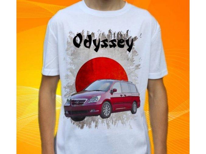 Dětské a pánské tričko s autem Honda Odyssey