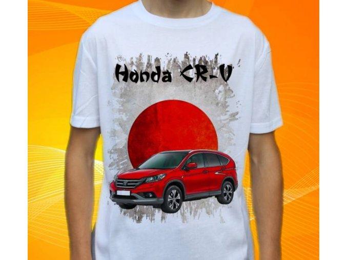 Dětské a pánské tričko s autem Honda CRV 2013