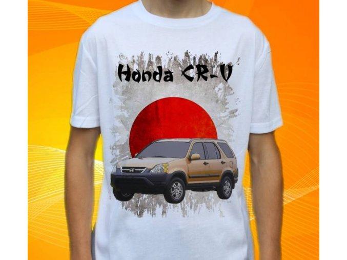 Dětské a pánské tričko s autem Honda CRV 2003