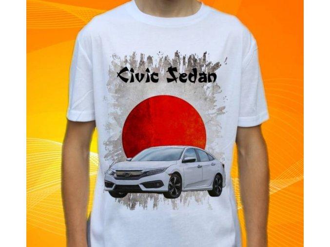 Dětské a pánské tričko s autem Honda Civic Sedan