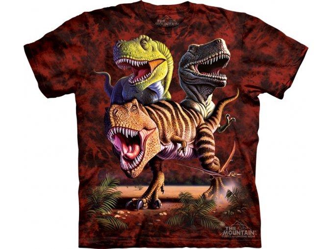tričko, dětské, dinosaurus, t-rex, mountain, potisk