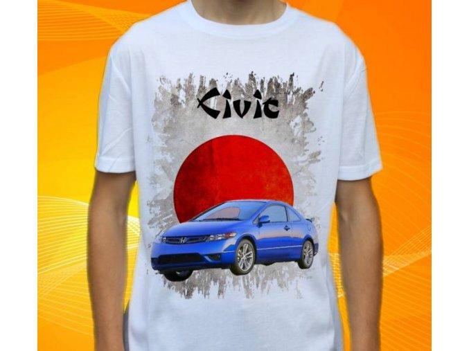 Dětské a pánské tričko s autem Honda Civic