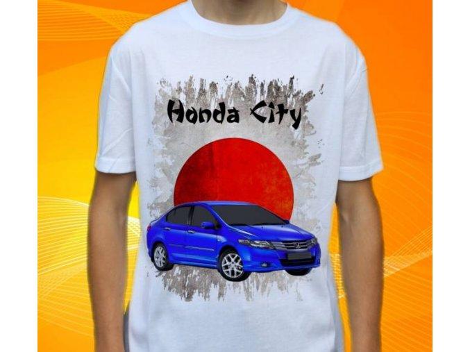 Dětské a pánské tričko s autem Honda City