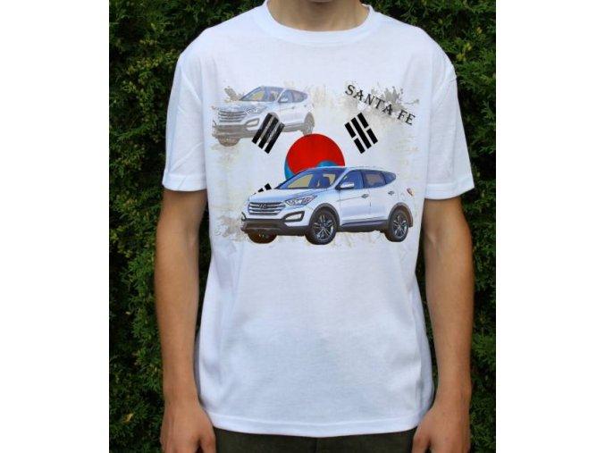 Dětské a pánské tričko s autem Hyundai Santa Fe