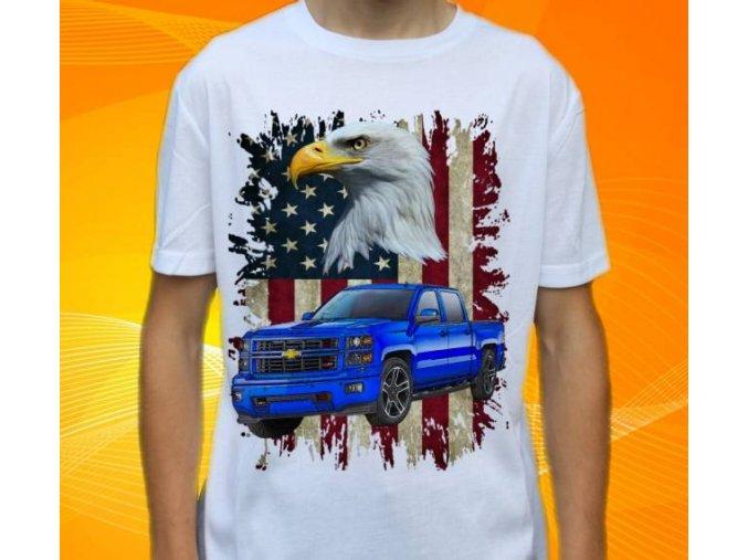 tričko s autem Chevrolet Silverado