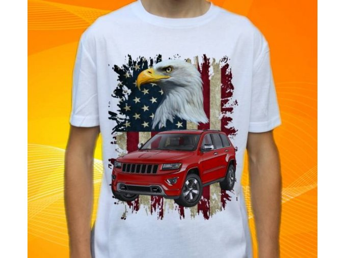 Dětské a pánské tričko s autem Jeep Grand Cherokee