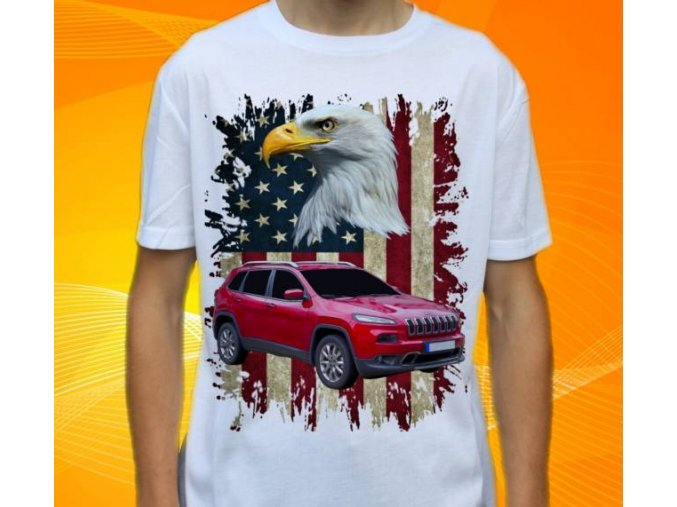 Dětské a pánské tričko s autem Jeep Cherokee