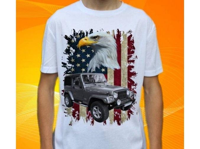 Dětské a pánské tričko s autem Jeep Wrangler
