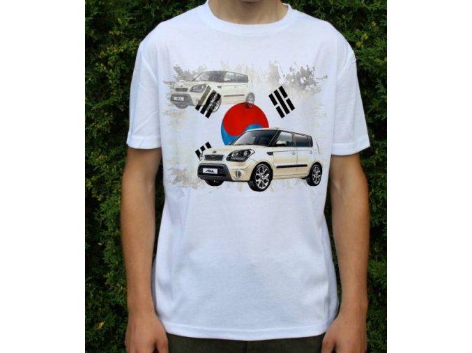 Dětské a pánské tričko s autem Kia Soul