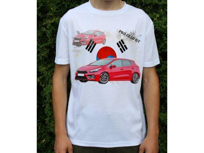 Dětské a pánské tričko s autem Kia Pro Ceed GT