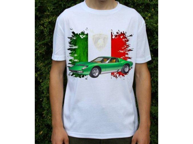tričko s autem Lamborghini Miura