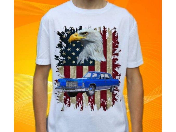 tričko s autem Lincoln Continental 1976