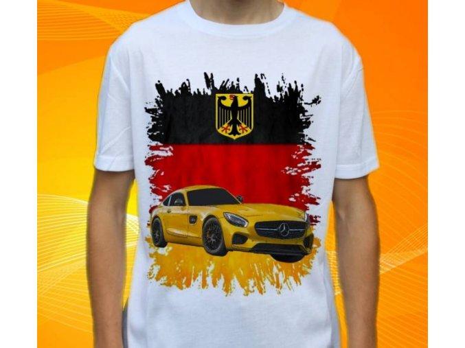 Dětské a pánské tričko s autem Mercedes Benz AMG GT