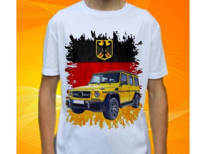 Dětské a pánské tričko s autem Mercedes Benz G Class
