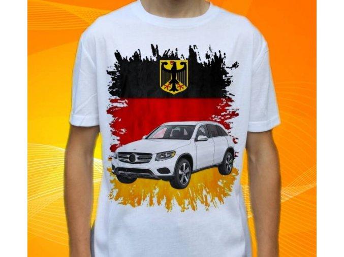 Dětské a pánské tričko s autem Mercedes Benz GLC