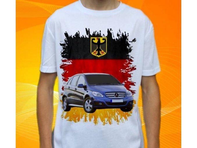 Dětské a pánské tričko s autem Mercedes Benz B180