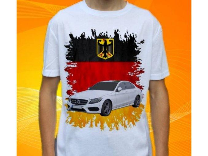 Dětské a pánské tričko s autem Mercedes Benz C230