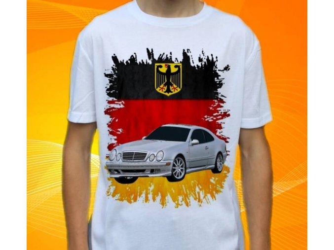 Dětské a pánské tričko s autem Mercedes Benz CLK208