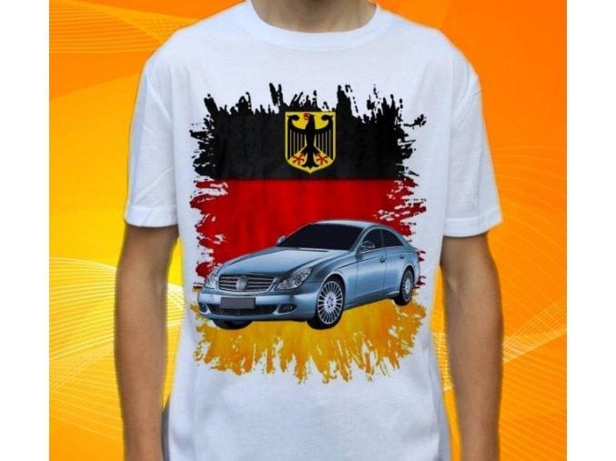 Dětské a pánské tričko s autem Mercedes Benz CLS320