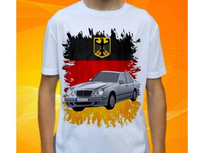 Dětské a pánské tričko s autem Mercedes Benz E210