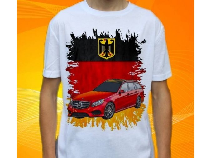 Dětské a pánské tričko s autem Mercedes Benz E212