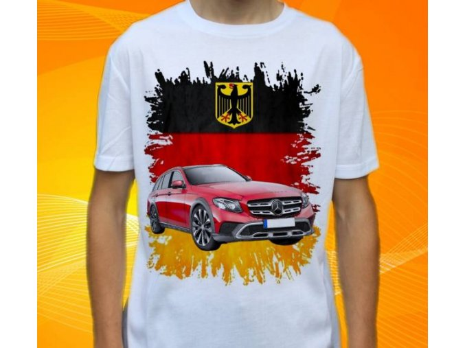Dětské a pánské tričko s autem Mercedes Benz E220 Combi
