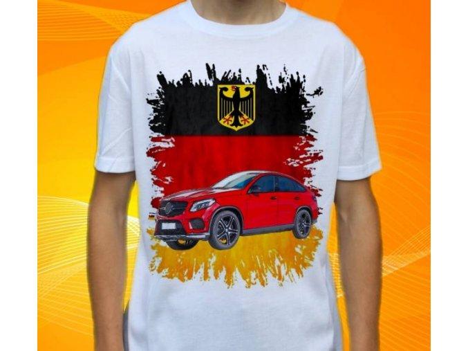 Dětské a pánské tričko s autem Mercedes Benz GLE