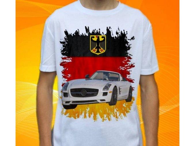 Dětské a pánské tričko s autem Mercedes Benz SLS