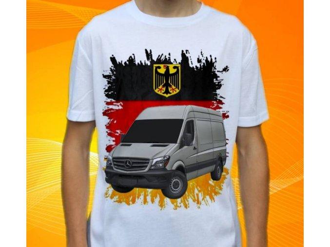 Dětské a pánské tričko s autem Mercedes Benz Sprinter