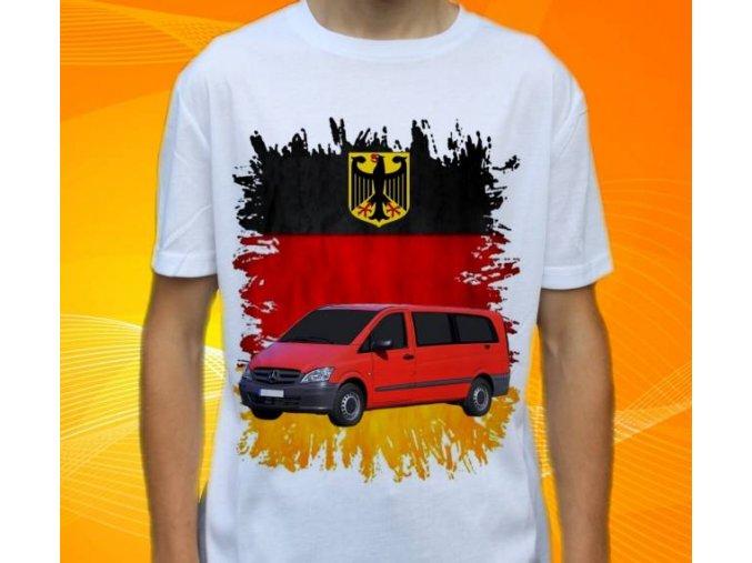 Dětské a pánské tričko s autem Mercedes Benz Vito