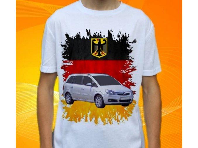 Dětské a pánské tričko s autem Opel Zafira