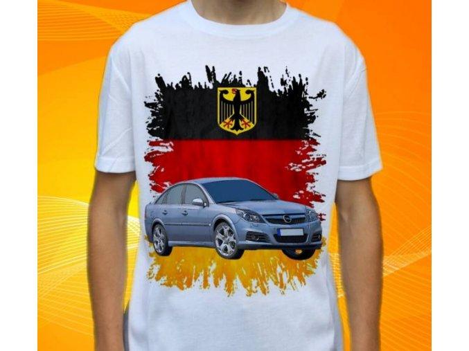 Dětské a pánské tričko s autem Opel Vectra