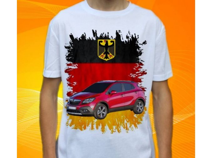 Dětské a pánské tričko s autem Opel Mokka