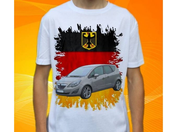 Dětské a pánské tričko s autem Opel Meriva 2011