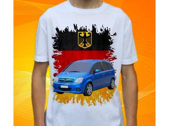 Dětské a pánské tričko s autem Opel Meriva 2006