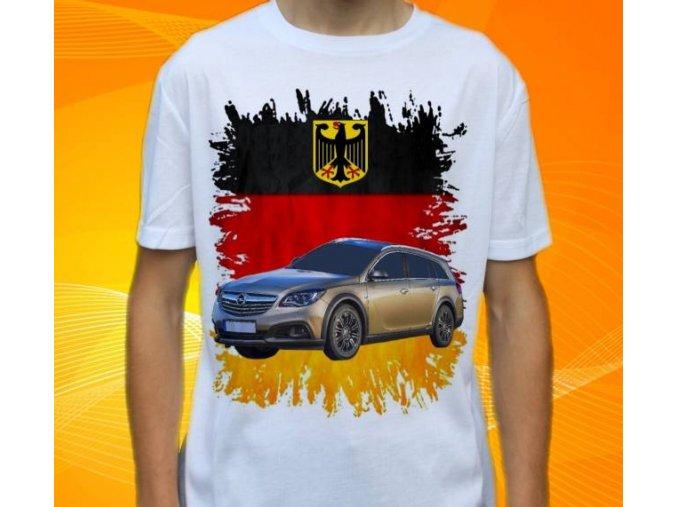 Dětské a pánské tričko s autem Opel Insignia Combi