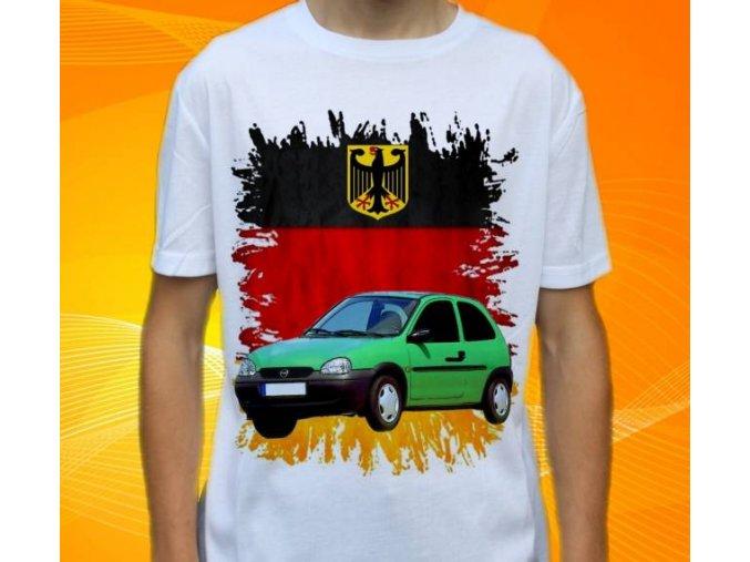 Dětské a pánské tričko s autem Opel Corsa