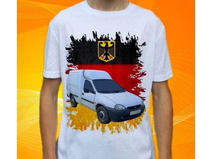 Dětské a pánské tričko s autem Opel Combo Pick-up
